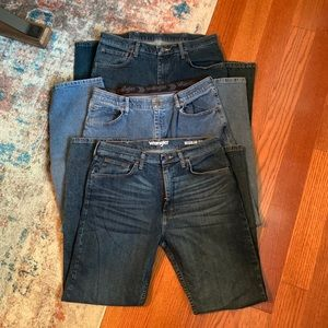 3 pairs Wrangler Regular Fit Flex 34x32